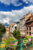The Ill river in Petite France area in strasbourg Stock Photography