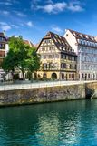 The Ill river in Petite France area in strasbourg Royalty Free Stock Photos