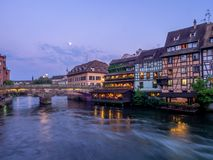 Ill River in Petite France, Strasbourg Royalty Free Stock Photography
