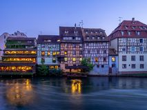 Ill River in Petite France, Strasbourg Royalty Free Stock Image