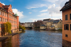 Ill river in Strasbourg Royalty Free Stock Photography