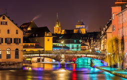 Ill river in Strasbourg - France Royalty Free Stock Photo