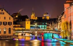 Ill river in Strasbourg - France Royalty Free Stock Photo