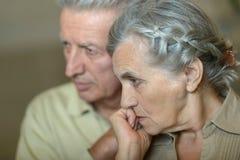 Ill senior couple Royalty Free Stock Images