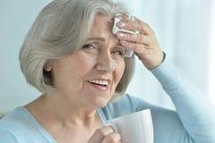 Ill Senior woman Stock Photos