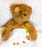 Ill teddy bear Stock Photography