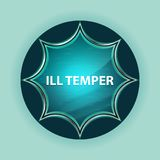 Ill Temper magical glassy sunburst blue button sky blue background royalty free illustration