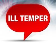 Ill Temper Red Bubble Background stock illustration