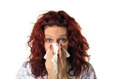 Ill woman Stock Photo