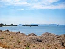 Illa d'Alcanada, peninsular Victoria, Majorca. Near village Urbanitzacio Gesa / peninsular Victoria (Talaia Alcudia) - Illa d'Alcanada Royalty Free Stock Photos