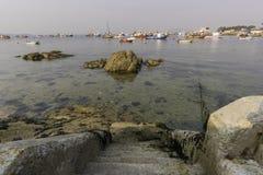 Illa de Arousa蓬特韦德拉,西班牙 免版税库存图片