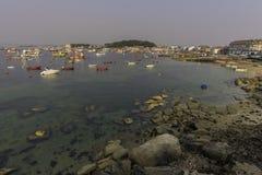 Illa de Arousa蓬特韦德拉,西班牙 免版税库存照片