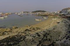Illa de Arousa蓬特韦德拉,西班牙 库存图片