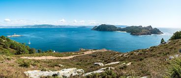 Illa de San Martino on the Cies Islands of Spain Royalty Free Stock Images