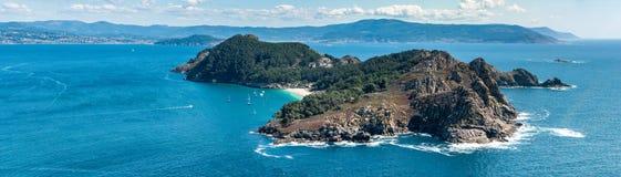 Illa de San Martino on the Cies Islands of Spain Stock Photography