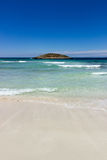 Illa des Conills from Formentera. View from Formentera to Illa des Conills in Ibiza Spain Royalty Free Stock Photos