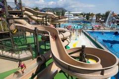 Illa Fantasia  Water Parks. BARCELONA, SPAIN - AUGUST 30, 2014: Illa Fantasia  Water Parks Royalty Free Stock Photo