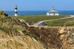 Illa Pancha lighthouse Stock Images