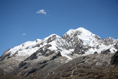 Illampu Mountain peak Royalty Free Stock Image