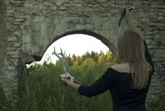 Illavarslande kvinnlig ritual arkivfoto