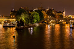Ille de Saint Louis Paris France Royalty Free Stock Images