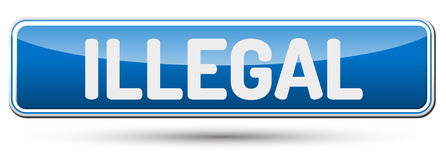 ILLEGAL - Abstract beautiful button with text. Stock Photo