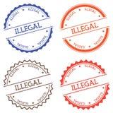 Illegal badge isolated on white background. Royalty Free Stock Image