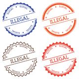 Illegal badge isolated on white background. Royalty Free Stock Images