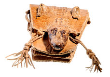 Illegal crocodile leather handbag Stock Photography