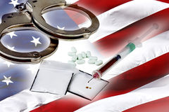 Illegal Drugs in America Royalty Free Stock Photography