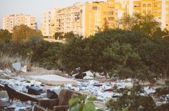 Illegal dump. Stock Photo