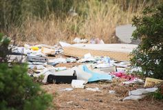 Illegal dump. Royalty Free Stock Photography