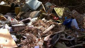 Illegal dump. Nature ecology theme stock footage