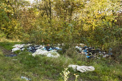 Illegal dumping Royalty Free Stock Photos