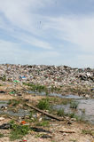 Illegal dumping ground. S in Central America royalty free stock images