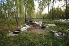 Illegal dumping Stock Photography