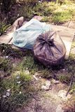 Illegal dumping in the nature Royalty Free Stock Photos