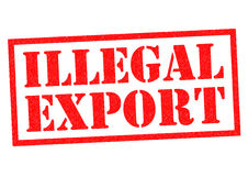 ILLEGAL EXPORT Royalty Free Stock Image