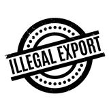 Illegal Export rubber stamp Stock Photography