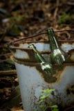 illegal garbage dump Stock Photo