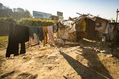 Illegal houses at slums in Tripureshwor district, Kathmandu. Stock Photography