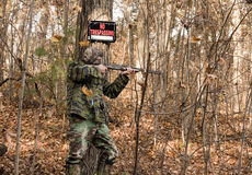 Illegal hunter Royalty Free Stock Photography