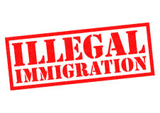 ILLEGAL IMMIGRATION Royalty Free Stock Photos
