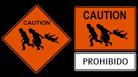 Illegal immigration Sign stock video