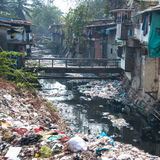 Illegal landfill in an asian city Royalty Free Stock Photos
