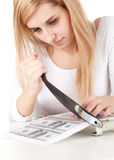 Illegal manufacture of money Stock Photo