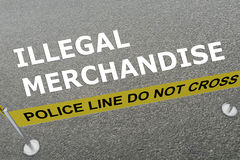 Illegal Merchandise concept Stock Images