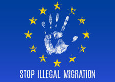 Illegal migration Stock Images