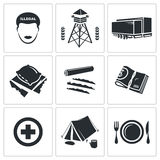 Illegal migration Vector Icons Set Stock Image