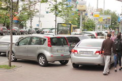 Illegal parking Stock Photos